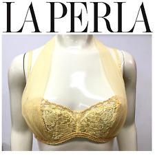 LA PERLA Gold Halter Lace Bra 947 * 34B * MSRP $280