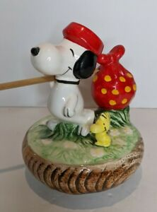 RARE Vintage Peanuts Snoopy & Woodstock Born Free Aviva Rotating Music Box WORKS