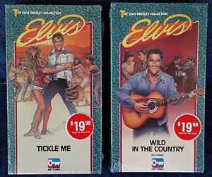 ELVIS PRESLEY - TICKLE ME + WILD IN THE COUNTRY - (2) VHS TAPES - STILL SEALED