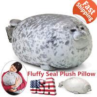 Osaka Chubby Blob Fluffy Seal Plush Pillow Cute Ocean Animal Stuffed Doll Toys