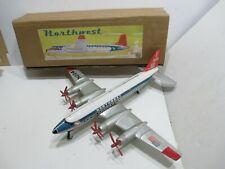 NORTHWEAT AIRLINES DC-7 WITH TURNING PROPS FRICTION N MINT IN BOX MADE BY MARX