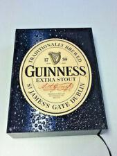 Guinness stout beer sign NOS NIB light box graphic wall lighted bar Irish 2007
