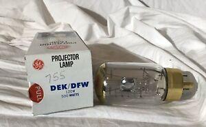 GE Projector Lamp DEK DFW 500 Watts 120V New In Original Box