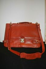 Balenciaga Red Veau Leather Briefcase Messenger Bag Laptop Case Made in Paris
