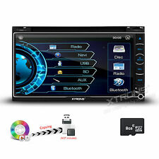 """XTRONS 7"""" Double 2DIN CD DVD MP3 Player GPS Navigation Car Stereo Receiver Radio"""