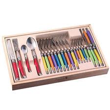 24pc Laguiole Style Flatware Set in Box Stainless steel Steak Knife Fork Spoon