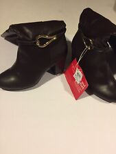 Women's dexflex comfort Leather Sexy Boots With Gold Accessories Size 10