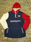Trademark Brooklyn Cloth USA NYC Windbreaker Mans Large Patriotic Red White Blue