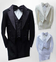 Baby Boys Christening Outfit, Boys Tuxedo Tail Suits, 3M to 6 Years 5 piece suit