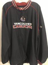 Vintage Vancouver Canucks CCM Pullover Jacket Size Large