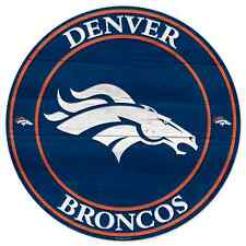 """DENVER BRONCOS WOOD SIGN 20""""X20'' BRAND NEW FREE SHIPPING WINCRAFT"""