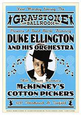 JAZZ ART PRINT Duke Ellington Graystone Ballroom Detroit 1933 Music Poster 24x17