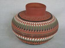 "Pottery Vase Navajo Handmade 5"" T x 19"" Around  by Terry Smith USA Estate Gem"