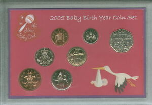 New Born Baby Girl Coin Gift Set 2005 (Parent Mum & Dad Birth Keepsake Present)