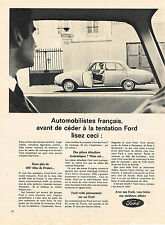 PUBLICITE ADVERTISING  1963    FORD  FO MO CO