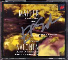 Esa-Pekka SALONEN Signiert MAHLER Symphony No.3 Anna Larsson SONY 2CD Sinfonie