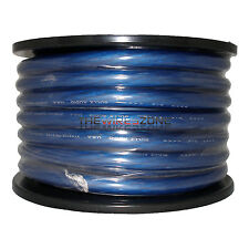 1/0 Gauge 50' Ft Ground Wire Cable Blue Power Car Audio Amp Awg