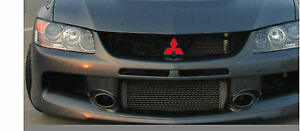Mitsubishi Grille Front & Rear emblem overlay cover DECALS Lancer Evo Eclipse