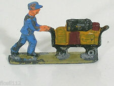 Märklin H0 00 Gußfigur Bahnpersonal m.Gepäckwagen 404G Top 800