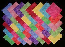 "BRIGHT PIZZAZZ 4"" Squares, 100% cotton Prewashed, Quilt Block Fabric (#E/110B)"