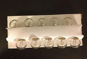 Box of 10 Lincoln 1895 Mini 12V Instrument Panel License Lamps Dash Light Bulbs