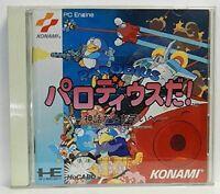NEC PC ENGINE Hu card [PARODIUS DA !] KONAMI  Japan shooter  Tracking# JAPAN