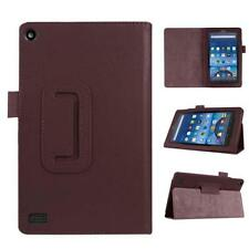 For Amazon Kindle Fire HD 7 2015 Tablet Leather Stand Case Smart Cover Brown FT
