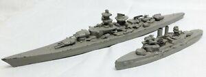 Antiker Konvolut mit 2x Wiking Metall Schiffen 30iger Jahren - 1:1250