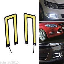 Car 2X 6W 12V Universal White COB LED DRL Driving Daytime Runing Light Fog Lamp