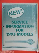Harley Davidson 1993 SERVICE Info FLT, FXR, Softail, XLH, FXD models  99449-93