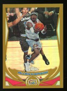 2004-05 Topps Chrome Gold Refractor #1 Allen Iverson Philadelphia 76ers HOF /99