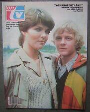3/6/82 'On TV' Local Cablevision Guide - Malisssa Sue Anderson/Doug McKeon Cover