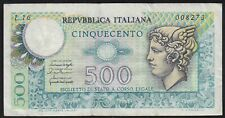 1976 500 Lire Italy Old Vintage Paper Money Banknote Currency Bill Note VF