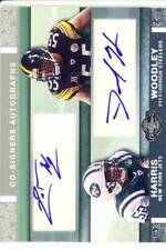 harris woodley rookie rc draft dual auto autograph jets steelers wolverines 2007