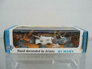 1960'S MARX LUNAR EXPLORATION MINIATURE PLAYSET SPACE TOY BOXED UNOPENED