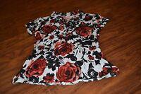 C9-J.T.B. Floral Print Short Sleeve Top Size S