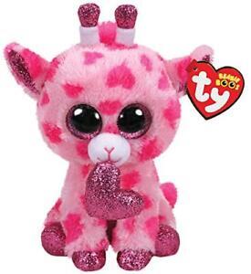 "TY Beanie Boos 6"" SWEETUMS the Valentine's Day Giraffe Stuffed Plush Toy MWMTs"