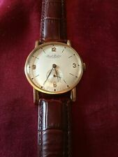 PAUL BUHRE 14CT 14K ROSE GOLD WATCH RARER SUB SECOND DIAL PAVEL BURE STUNNING