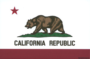 California Bear Flag STICKER Decal PP11