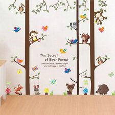 Wandtattoo Kinderzimmer Affe Fuchs Hase Eule Junge Mädchen Wald Baum Vogel Tiere