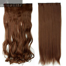 Long NEW 3/4 Full head Clip in Hair Extension One Piece 5 Clips on 30Colors lh11