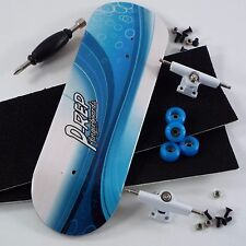 P-REP - 32mm Graphic Complete Wooden Fingerboard - Aqua Wave