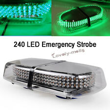 NEWEST 2017 1Pc 240 LED Car Magnetic HOT Green Truck Strobe Flash Light Warning