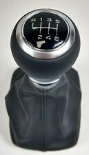 NEW GENUINE AUDI A1 A3 CABRIOLET BLACK LEATHER 6 SPEED MANUAL GEARKNOB