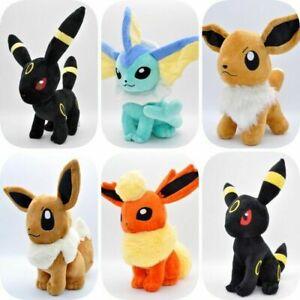 Eevee Vaporeon Cuddly Plush Soft Toy Stuffed Animal Doll Toy Gift 12''
