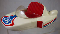 Star Force Toy Space Car 90's Plastic Futuristic White Red Vintage Toy Vehicle