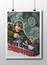 "North KOREA Anti-American Propaganda Poster Print REVENGE! 18x24"" #NK029"