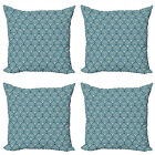 Ambesonne Victorian Cushion Cover Set of 4 for Couch and Bed in 4 Sizes