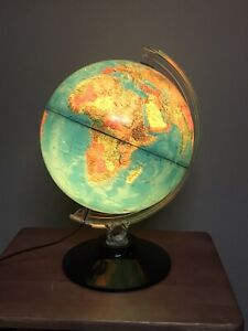 Vintage Rand McNally Physical/Political Globe Lights Up 1982 Nice Condition USSR