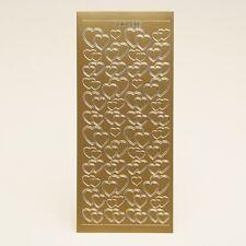 Peel off stickers-or mixte coeurs-enveloppe sceaux